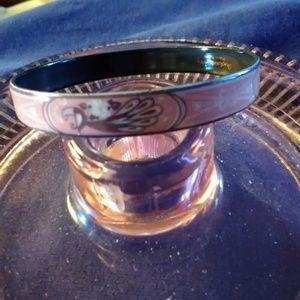 Michaela Frey Jewelry - Michaela Frey Enamel Pink Peacock Bangle